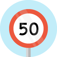 Speed limits and signs